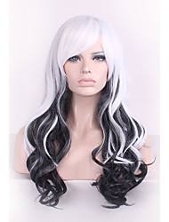 Best-selling Europe And The United States Long Curly Wig Mixed Black And White Color Hair Wigs