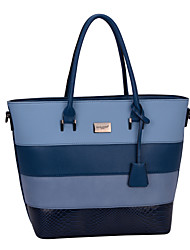 DAVIDJONES/Women PU Baguette Shoulder Bag / Tote / Satchel / Cross Body Bag-Blue