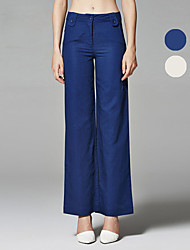 ZigZag® Da donna A vita medio-alta Flare Blu / Beige Casual Pantaloni - 11266