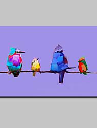 большой ручной росписью современная картина маслом абстрактной птицы животное на холст стены искусства картины с рамкой готовы повесить