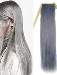 22 inch Granny Hair Grey Straight Tape in Synthetic Hair Extension