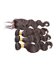 cabelo virgem brasileiro com fecho de tecer cabelo brasileiro pacotes com fecho de onda do corpo brasileiro com fechamento
