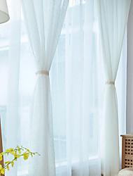 2 шторы европейский Твердый В соответствии с фото Гостиная Полиэстер Занавески Оттенки