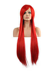 Hannah Anafeloz Red Cosplay Wig Long Straight Synthetic Wig.