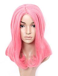 fashional bobo-de-rosa mulheres peruca sintética completa