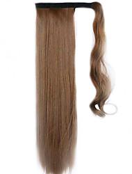 коричневый 60см синтетический высокая температура проволоки парик прямые волосы конский хвост цвет 12