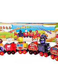 l'article 6 du pain magnétique train de duperman de dmall, jouets en bois pain magnétique petit train