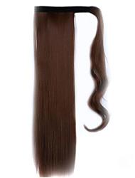 коричневый 60см синтетический высокая температура проволоки парик прямые волосы конский хвост цвет 30b