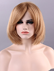 Capless  Short Straight Highlights Human Hair Wigs 9 Colors to Choose