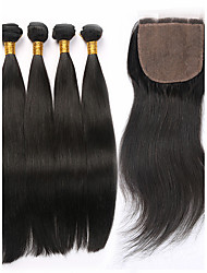 Straight Human Hair Weaves Peruvian Texture 450 8 10 12 14 16 18 20 22 24 26 Human Hair Extensions