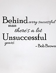 Behind Every Successful Man Theres A Lot Unsuccessful Years 70*41Cm Wall Stickers