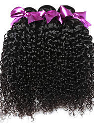 Natural Color Hair Weaves Brazilian Texture Kinky Curly 18 Months 3 Pieces hair weaves