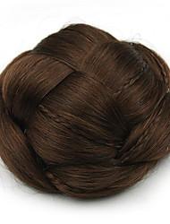Kinky вьющиеся каштановые человеческие волосы парики шнурка шиньоны 2009