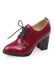 Women's Shoes Chunky Heel Heels / Pointed Toe Heels Dress Black / Red / White