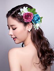 Mulheres Tecido Capacete-Casamento Ocasião Especial Flores Clip para o Cabelo 1 Peça