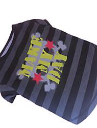 Hunde T-shirt Grau Hundekleidung Sommer Zebra