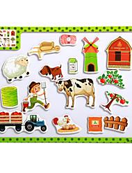 детские мультфильм головоломки магнитные деревянные головоломки игрушки туба-ферма