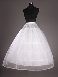 Slips Ball Gown Slip Tea-Length 2 Tulle Netting / Taffeta White