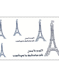 Fashion Temporary Tattoos Eiffel Tower Sexy Body Art Waterproof Tattoo Stickers 5PCS (Size: 2.36'' by 4.13'')