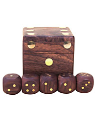 Royal St. Dice Completely Real Wood Hua Limu Dice Inlaid Copper Passengers On G151 Arrived/G151A Wooden Box With 22 Mm