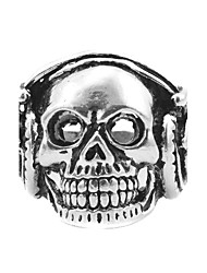 Toonykelly® Vintage Look Antique Silver Alloy Punk Skull Men Biker Motor Gothic Ring (1pc)