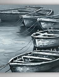 ручная роспись маслом пейзаж черно-белый корабль II с растянутыми кадра 7 стенки arts®