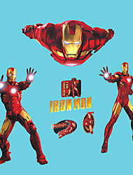 Movie Superhero Iron Man Cartoon Wall Stickers Kids Bedroom Living Room Wall Decals