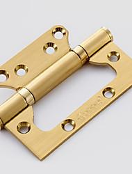 dobradiça espessamento de ouro dobrar 4 polegadas