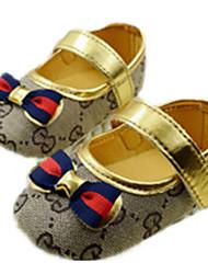Mädchen-Flache Schuhe-Outddor-BaumwolleKomfort / Rundeschuh-Gold