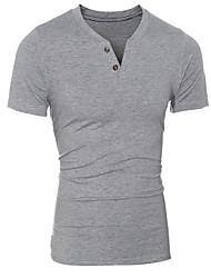 Fashion Solid Color Man T-Shirt Cotton V Neck T Shirt Mens Short Sleeve Mens Tshirt Male Tops Tees
