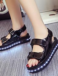 FemininoLight Up Shoes-Rasteiro-Preto-Courino-Ar-Livre Escritório & Trabalho Casual