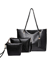 Women PU Casual / Office & Career / Shopping Tote / Bag Sets Beige / Blue / Black