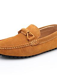 Синий / Коричневый / Серый / Бордовый Мужская обувь Для прогулок / Для офиса / На каждый день Кожа / Замша Лоферы