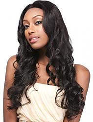 черный цвет косплей синтетические парики дешевой волны париков париков