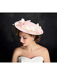 Damen Spitzen / Perle / Flachs Kopfschmuck-Besondere Anlässe Kopfschmuck 1 Stück Beige Unregelmässig 25