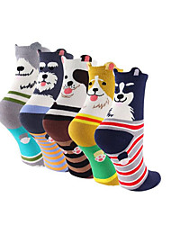 Womens Dog Cotton Socks Crew Novelty Liner Socks 12-pack