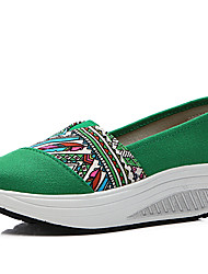 Women's Shoes Canvas Spring / Summer / Fall / Winter Wedges / Roller Skate Shoes / Comfort / Flats Sneakers