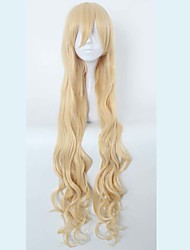 Cheap Halloween Gosick Victorique De Blois High Quality 120cm Extend Long Blonde Wavy Cosplay Wig