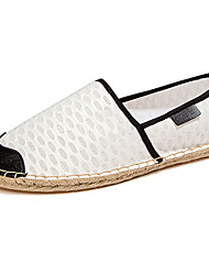 Women's Flats Summer Flats Leather Casual Flat Heel Black / White