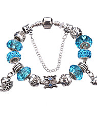 Antique Silver Plated Towl Pendant Beads Strands Bracelet #YMGP1020