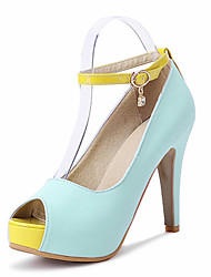 Women's Shoes Stiletto Heel Peep Toe Ankle Strap Pump More Color Available
