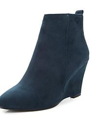 Women's Shoes Fleece Spring / Summer / Fall Wedges Boots Wedding / Party & Evening / Dress / Casual Wedge Heel