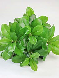 """12.2"""" 1 Branch Artificial Silk Leaf Green Plants Decorative Flowers Auxiliary Material for Flower Decoration 1pc/set"""