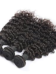 3 Bundles Lot Brazilian Curly Virgin Hair 100% Unprocessed Brazilian Human Deep Wave Virgin Hair Weft