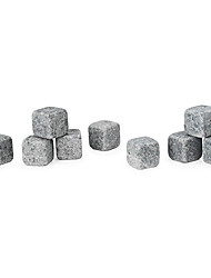 9pcs/lot Whiskey Stones Ice Stones Drinks Cooler Cubes Beer Rocks Granite Pouch Drink Cooling Ice Melts Whisky Stones