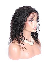 """8 """"-26"""" naturelle des cheveux de bébé noir cheveux vierges sans colle bouclés de couleur de la perruque avant de lacet brésilien pour les"""