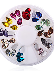 Waterdrop Shape Acrylic Nail Art Decoration 1 Palette