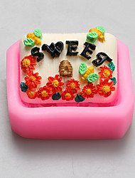 Sweet Flowers Chocolate Silicone Molds,Cake Molds,Soap Molds,Decoration Tools Bakeware