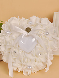 Fresh Pearl Heart Shape Ring Pillow