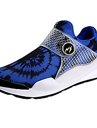 Men's Sneakers Summer Satin Hook & Loop Black Blue Running